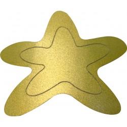 Estrella dorada metal.