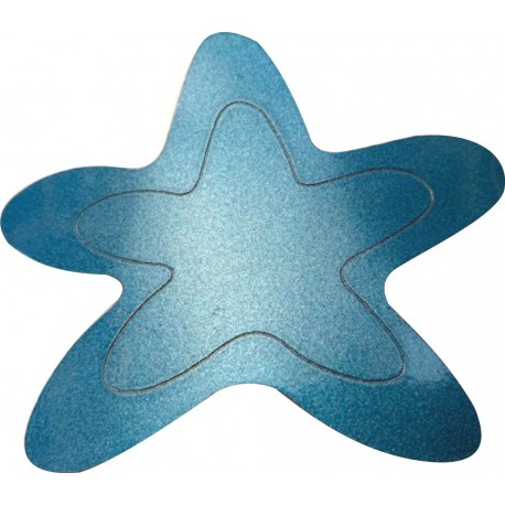 Estrella azul metal.